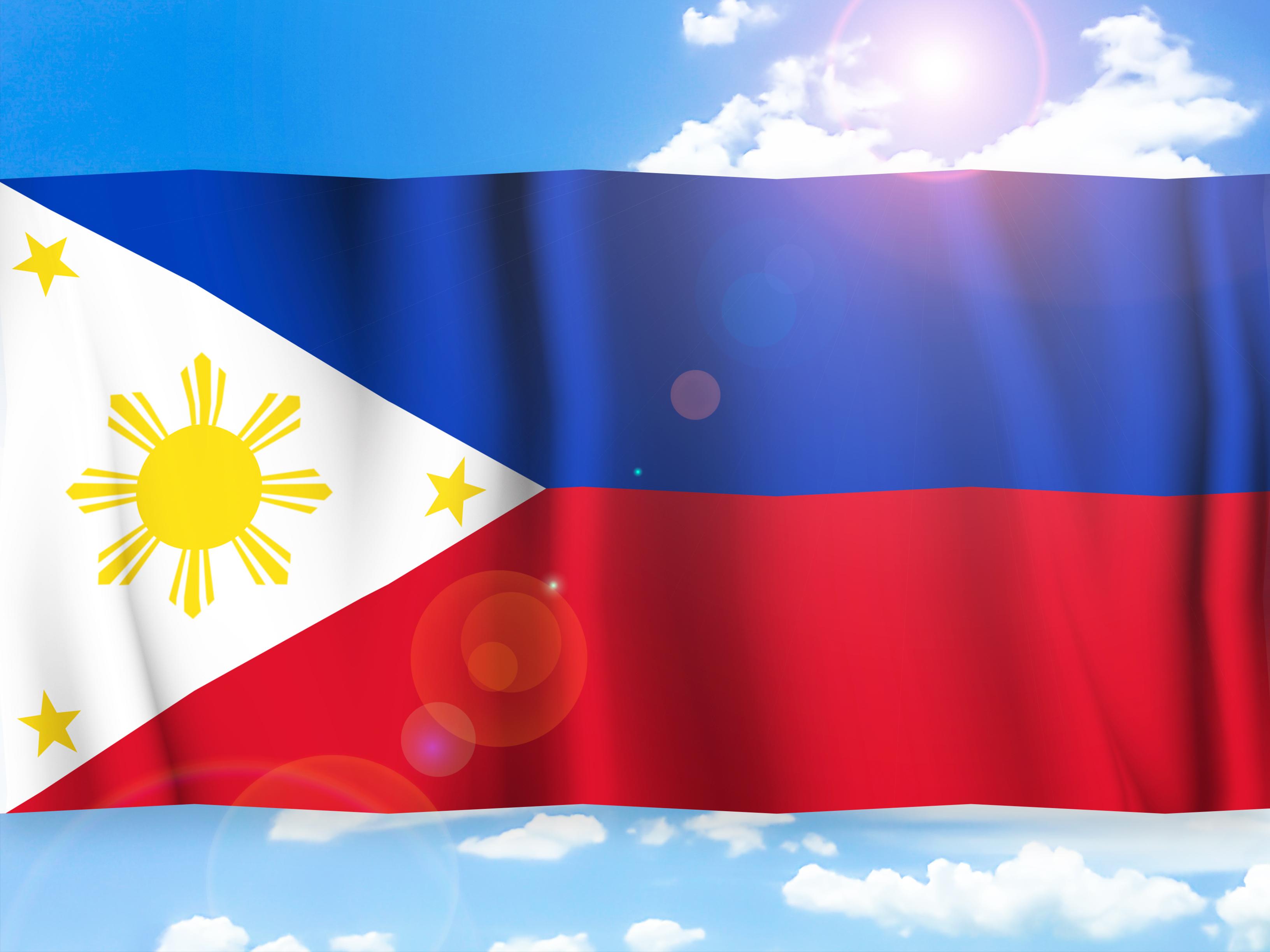 フィリピン短期留学:フィリピンの国旗