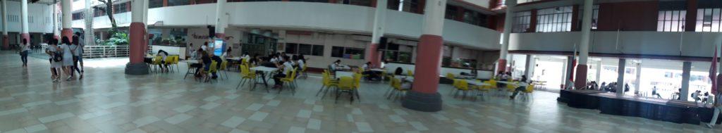 セントロエスカラー大学(Centro Escolar University )のロビー
