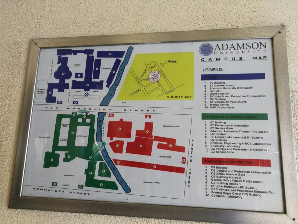 アダムソン大学(Adamson University)の地図