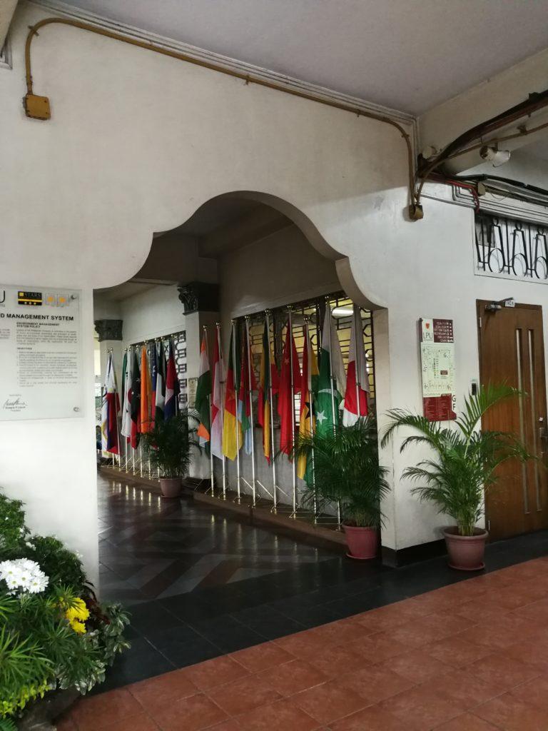 リセウム・オブ・ザ・フィリピン大学(Lyceum of the Philippines University)の廊下