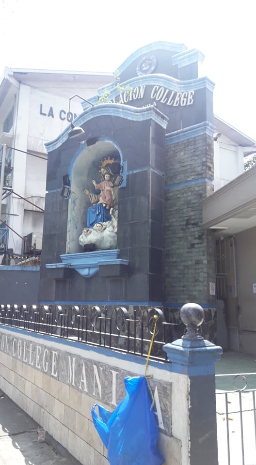 ラコンソラチオンカレッジ(La Consolacion College)の側面