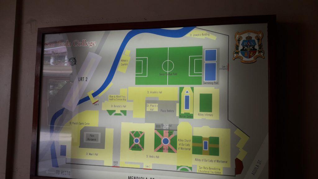 サンベダ大学(San Beda College )のキャンパス地図