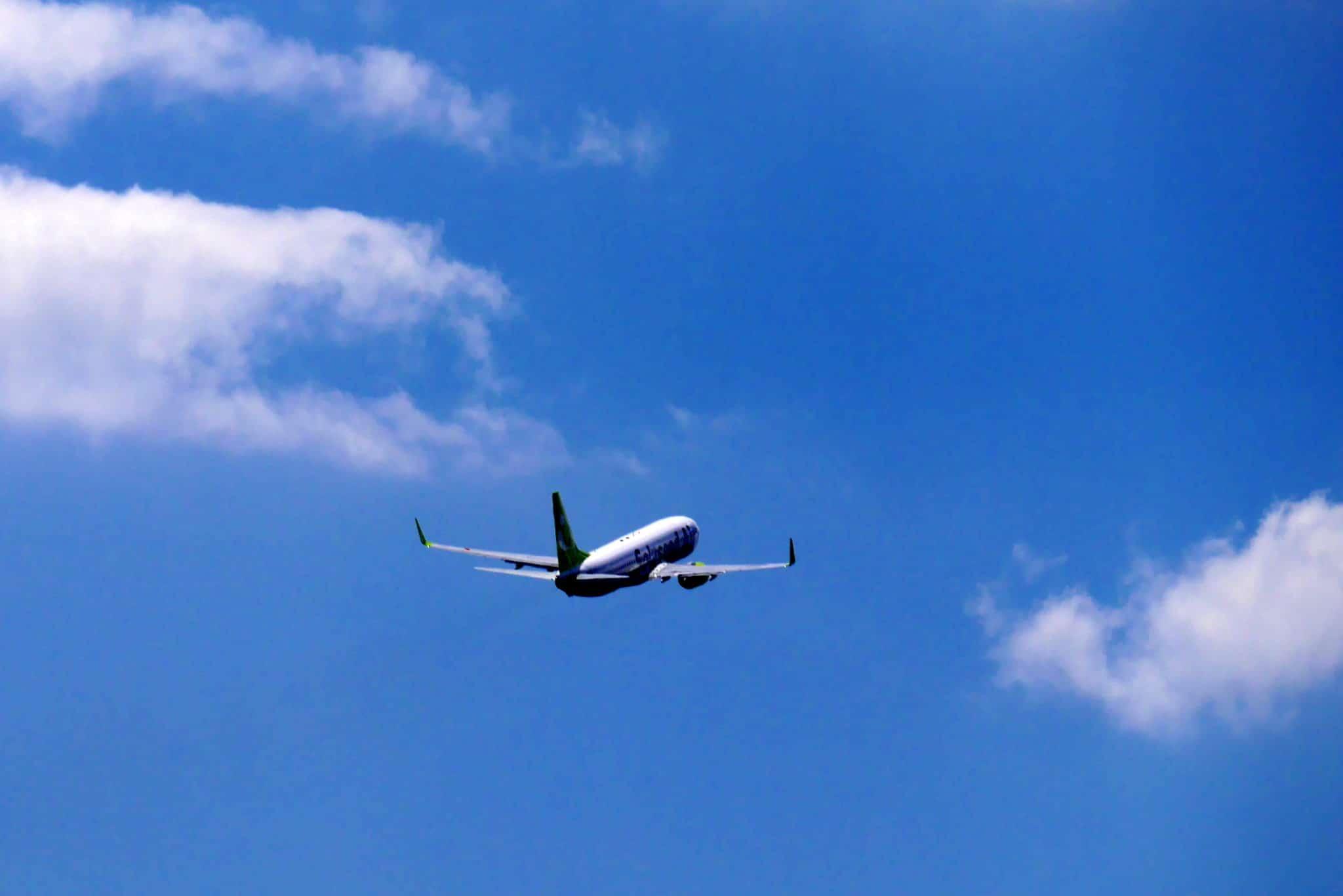 フィリピンに向かう飛行機