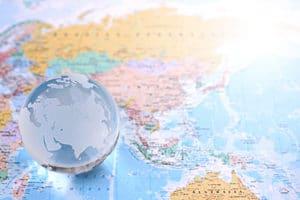 フィリピンと世界の地図