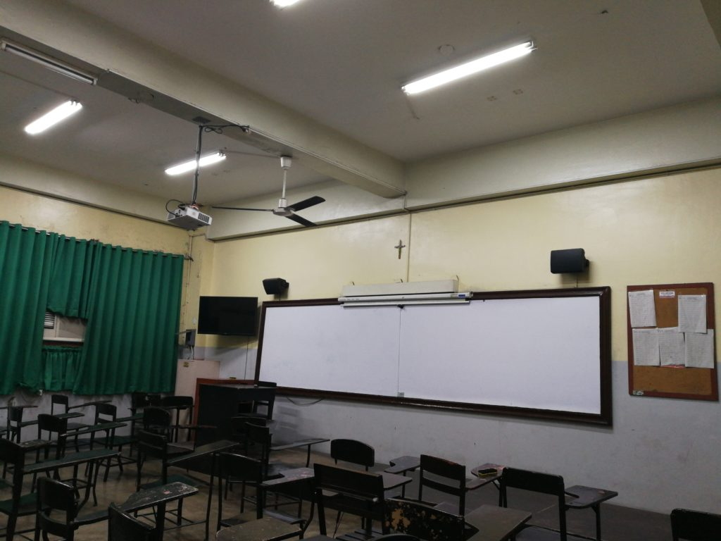 サンホセ大学(University of San Jose-Recoletos)の教室