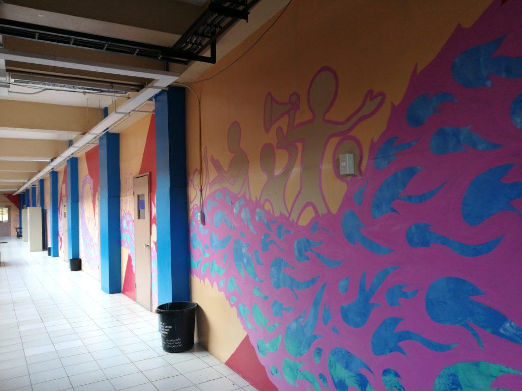サウスウェスタン大学(Southwestern University)の壁