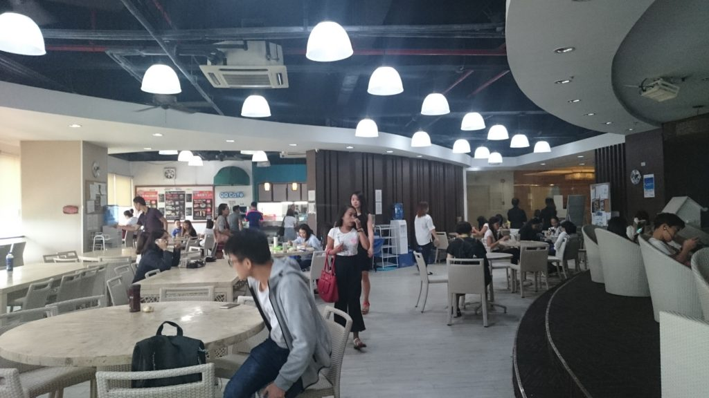 QQ English IT Park(キューキューイングリッシュ アイティーパーク校)の食堂