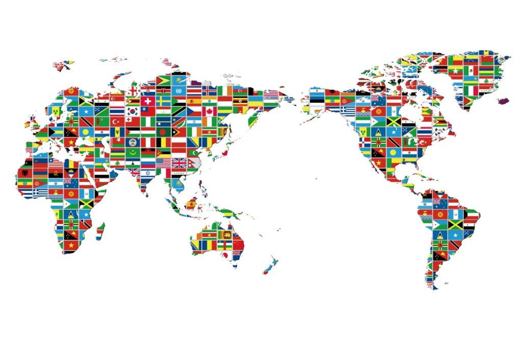 フィリピンと世界地図