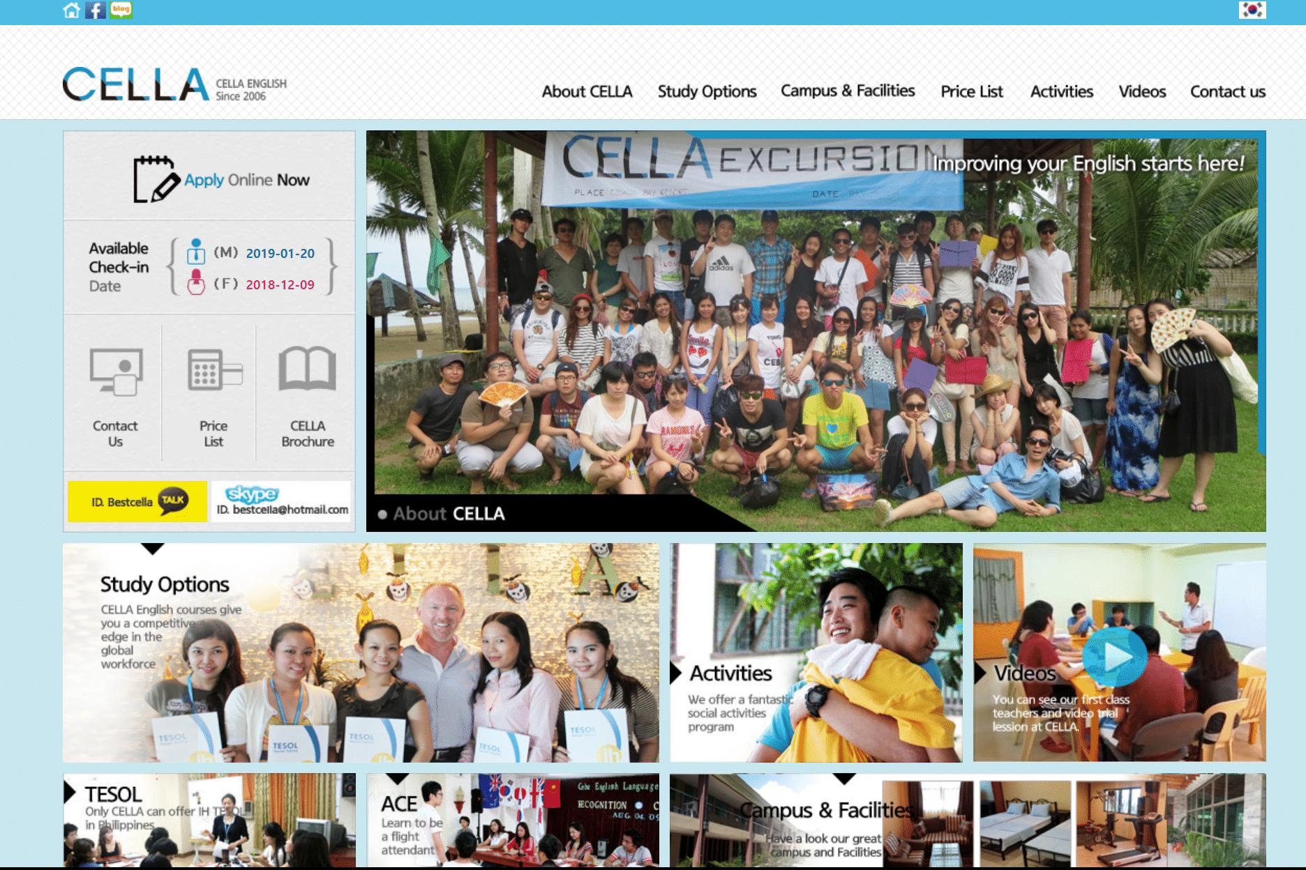 フィリピン語学学校比較シティ型:CELLA(セブ島)