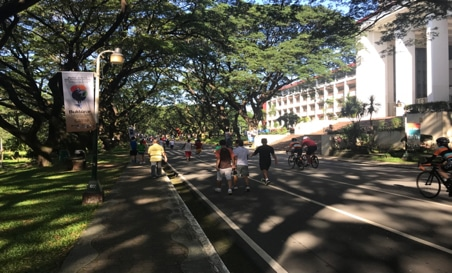 緑豊かなキャンパス・ランニング&サイクリングコース