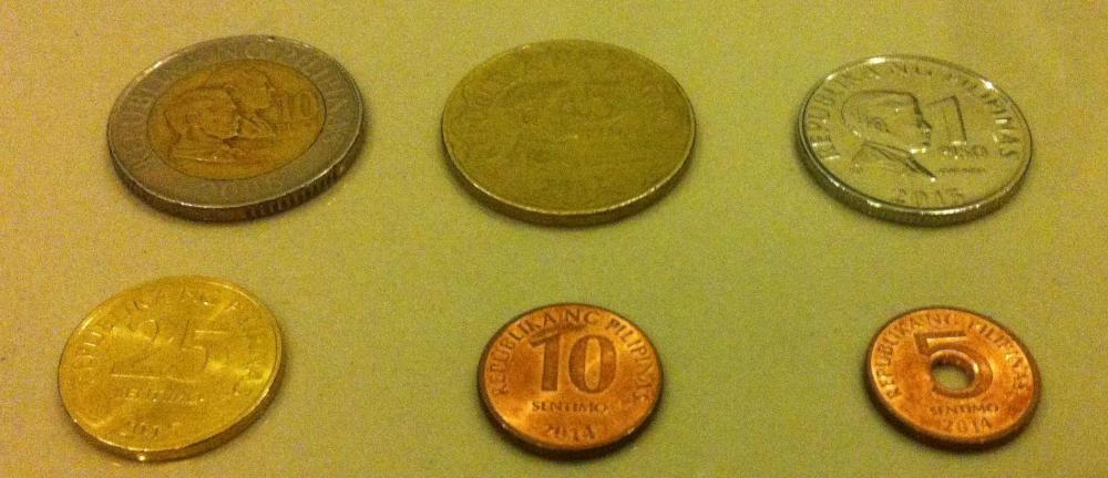 フィリピンの通貨「ペソ」:硬貨