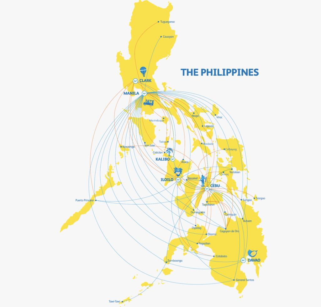 就航都市(フィリピン国内):38地域